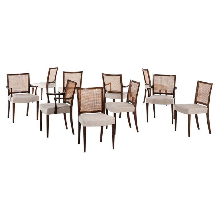 Ernst Kühn Dining Chairs Produced by Lysberg Hansen & Therp in Denmark For Sale