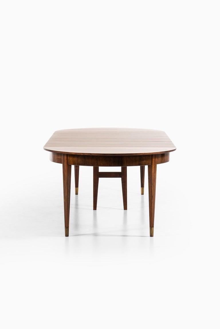 Ernst Kühn Dining Table in Rosewood by Lysberg Hansen & Therp in Denmark For Sale 3