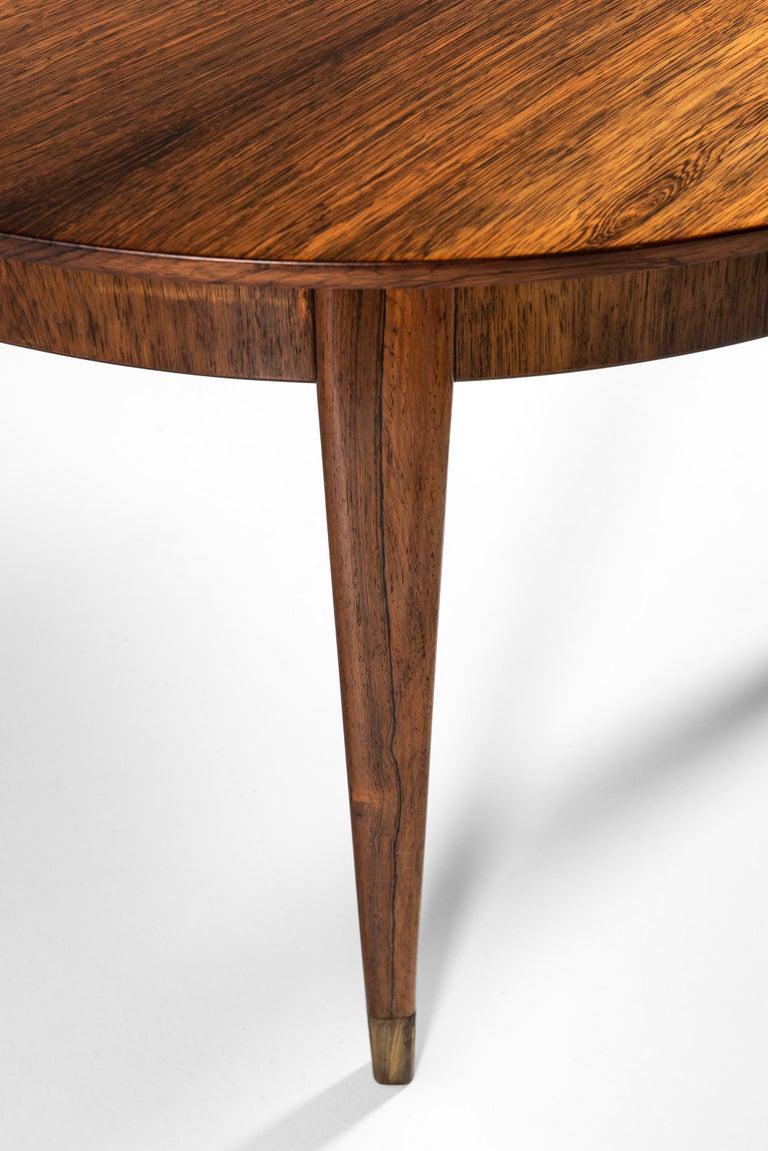 Ernst Kühn Dining Table in Rosewood by Lysberg Hansen & Therp in Denmark For Sale 4