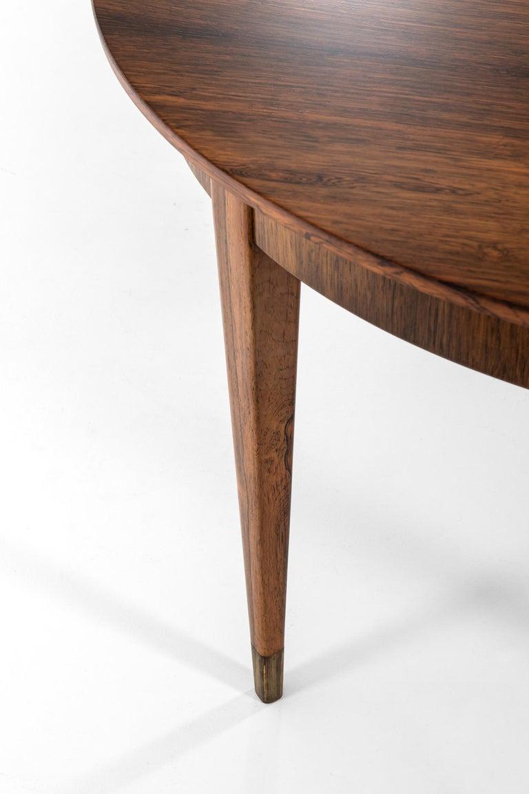 Brass Ernst Kühn Dining Table in Rosewood by Lysberg Hansen & Therp in Denmark For Sale