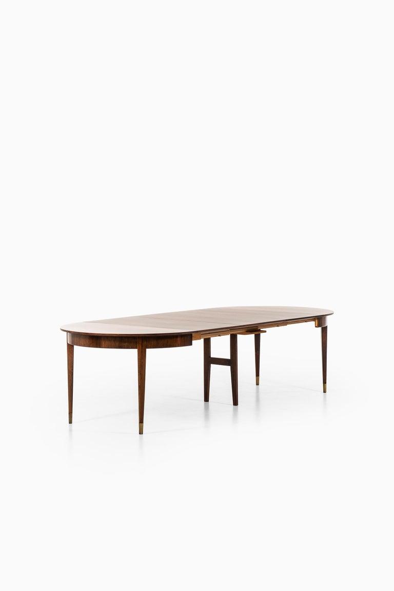 Ernst Kühn Dining Table in Rosewood by Lysberg Hansen & Therp in Denmark For Sale 2