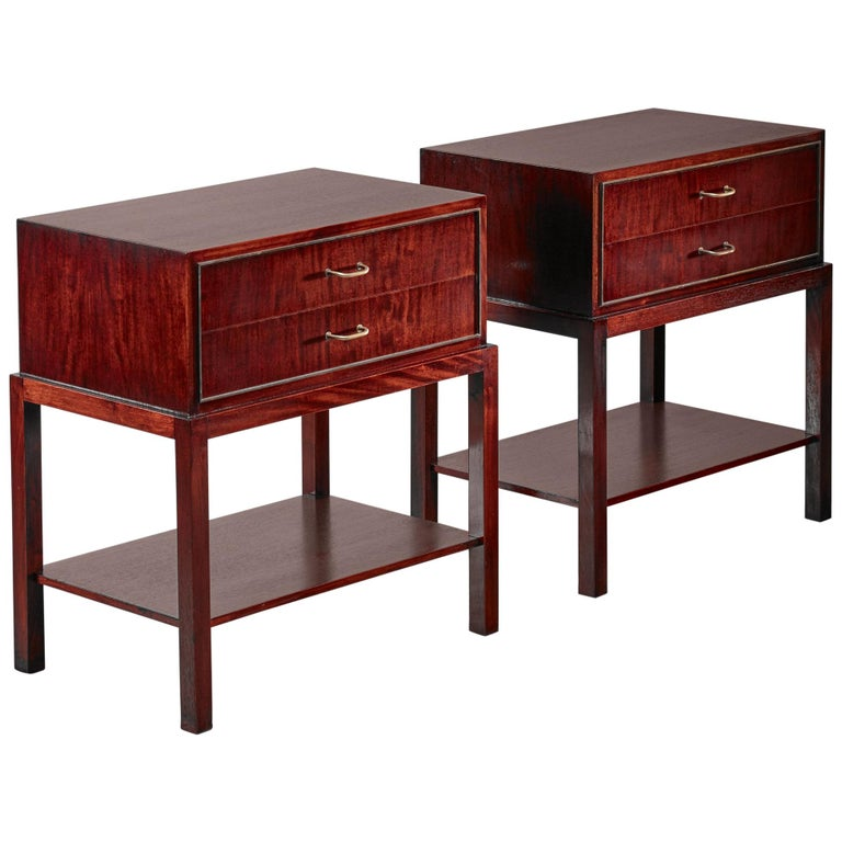 Danish Modern Compact Night Stands End Tables \u2013 Perfect for Small Spaces Rosewood Scandinavian Design 1950s Art Deco