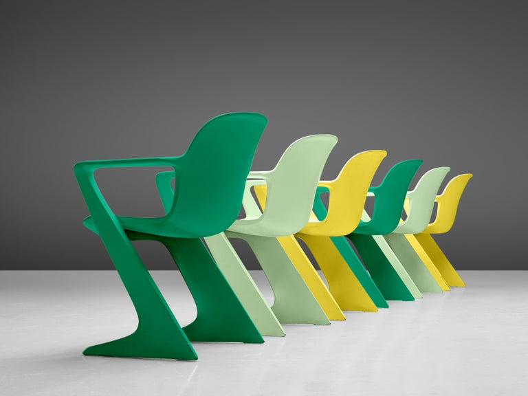 Mid-Century Modern Ernst Moeckl Colorful Kangaroo Chairs For Sale