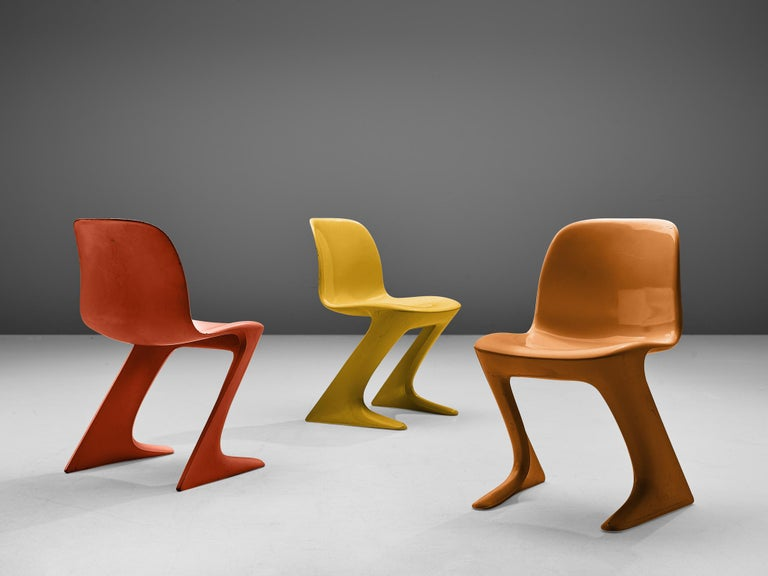 Mid-Century Modern Ernst Moeckl Colorful 'Kangaroo' Chairs For Sale