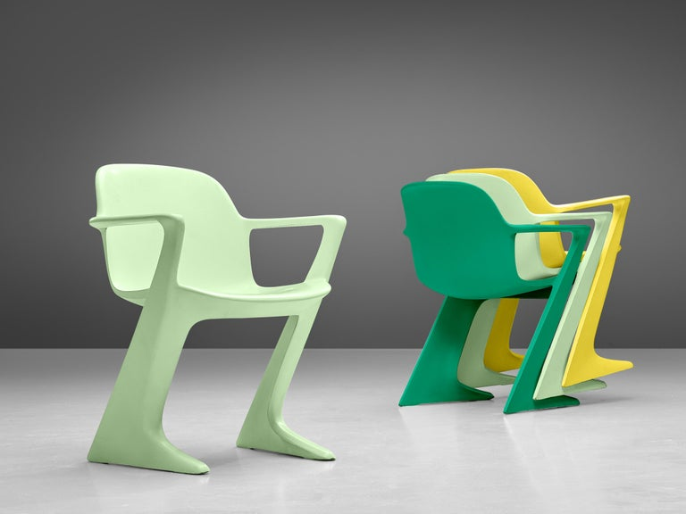 German Ernst Moeckl Colorful Kangaroo Chairs For Sale
