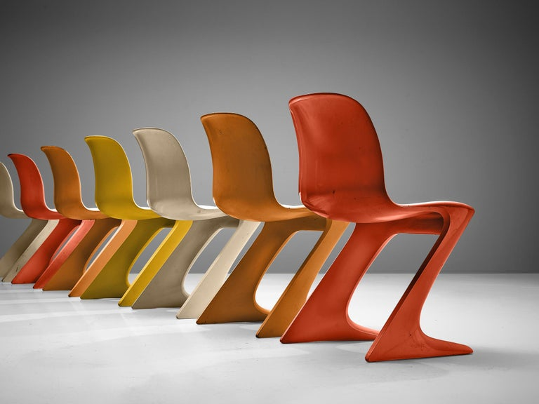 German Ernst Moeckl Colorful 'Kangaroo' Chairs For Sale