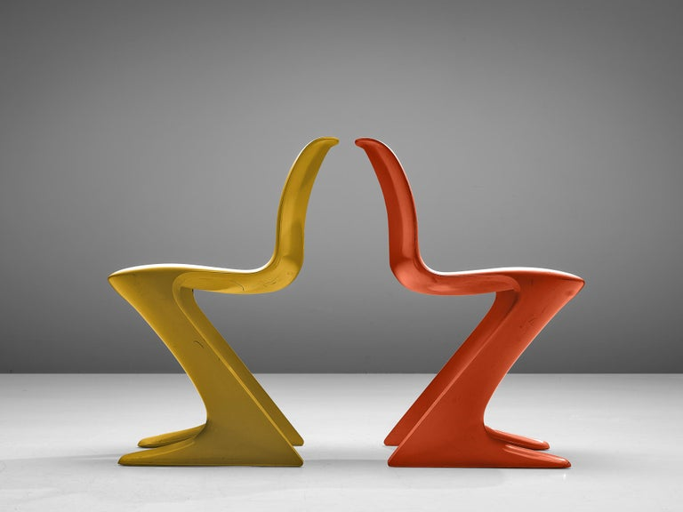 Mid-20th Century Ernst Moeckl Colorful 'Kangaroo' Chairs For Sale