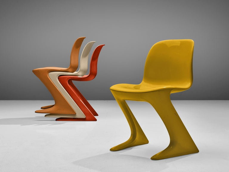 Fiberglass Ernst Moeckl Colorful 'Kangaroo' Chairs For Sale