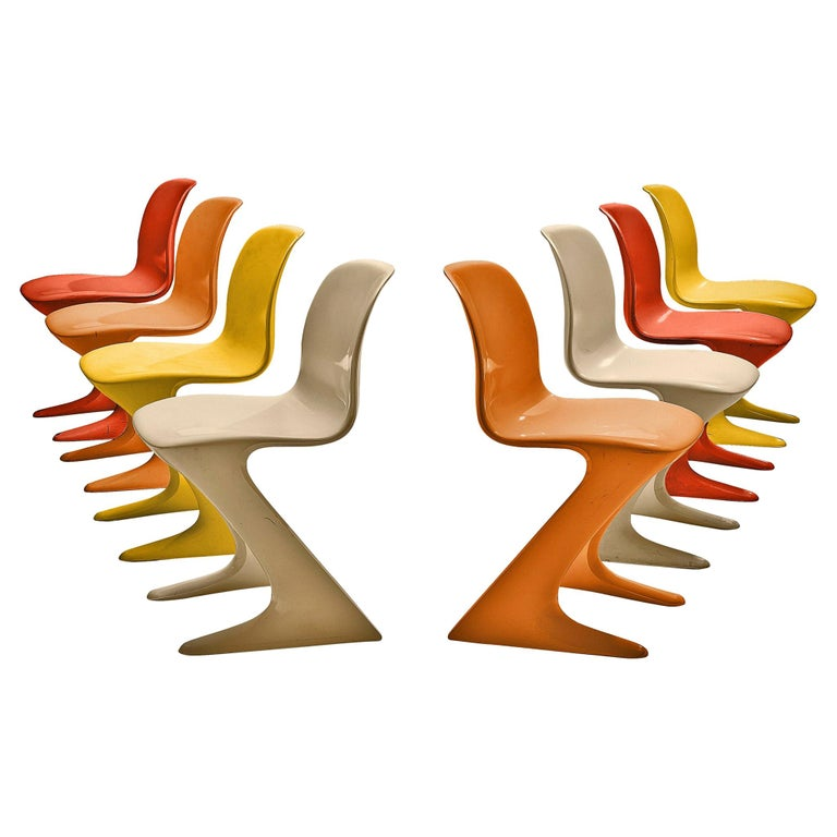 Ernst Moeckl Colorful 'Kangaroo' Chairs For Sale