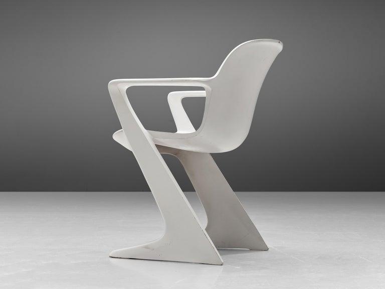 Mid-Century Modern Ernst Moeckl White Kangaroo Chairs For Sale