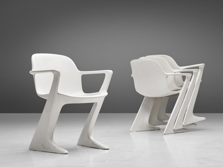 Ernst Moeckl White Kangaroo Chairs In Good Condition For Sale In Waalwijk, NL