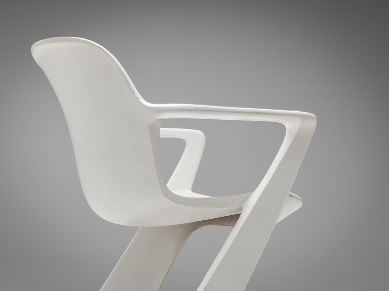 Mid-20th Century Ernst Moeckl White Kangaroo Chairs For Sale