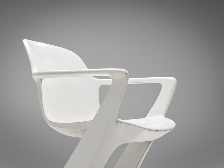 Ernst Moeckl White Kangaroo Chairs For Sale 1
