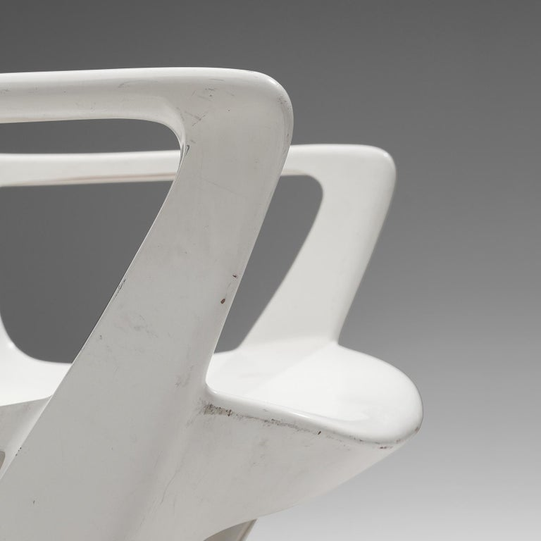 Ernst Moeckl White Kangaroo Chairs For Sale 2