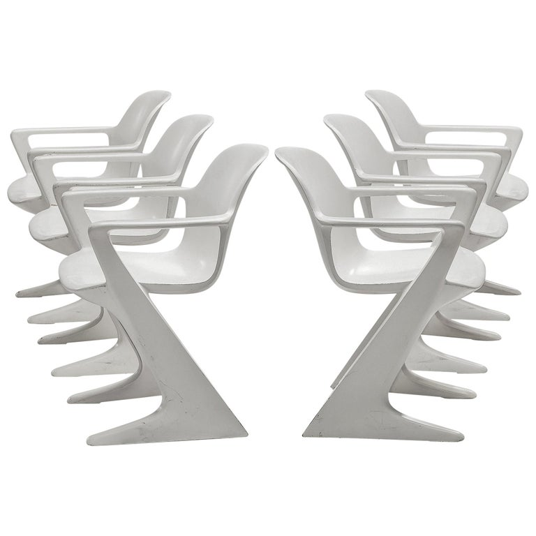 Ernst Moeckl White Kangaroo Chairs For Sale