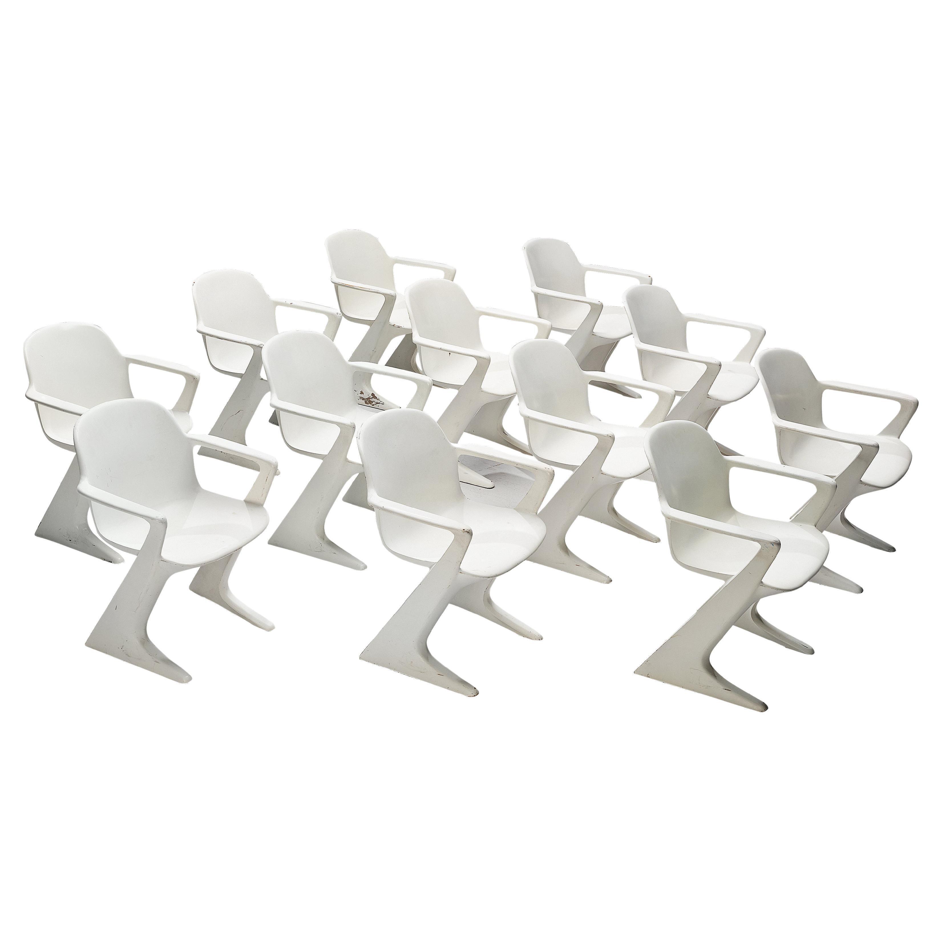 Ernst Moeckl White 'Kangaroo' Dining Chairs