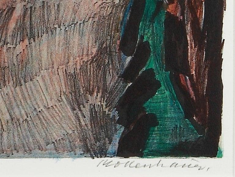 Nächtliche Dorfstrasse in Keitum, Sylt, Lithograph 1957 by Ernst Mollenhauer  For Sale 3