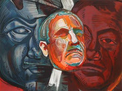 Triple Self-Portrait by Ernst Neizvestny