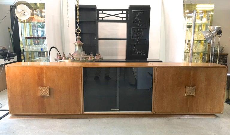 Ernst Schwadron Cerused Triple Cabinet For Sale 3