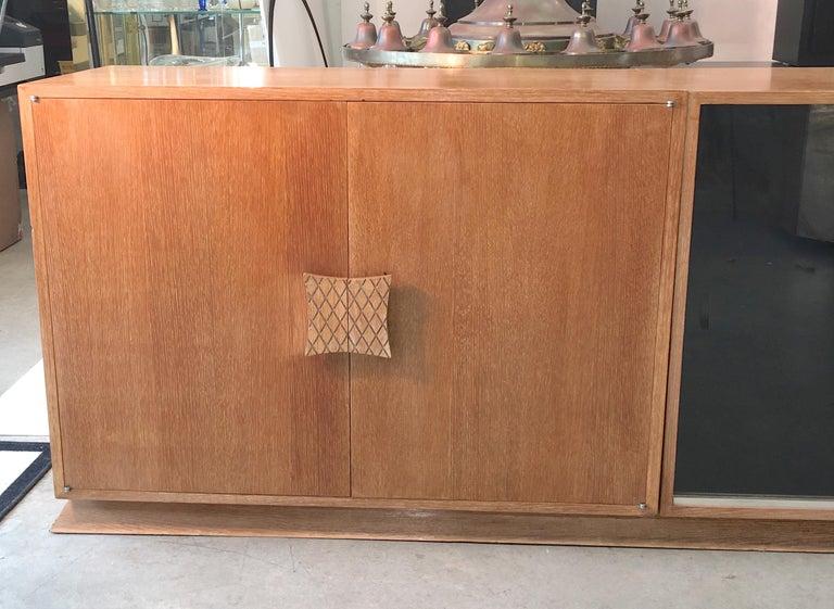 Ernst Schwadron Cerused Triple Cabinet For Sale 4