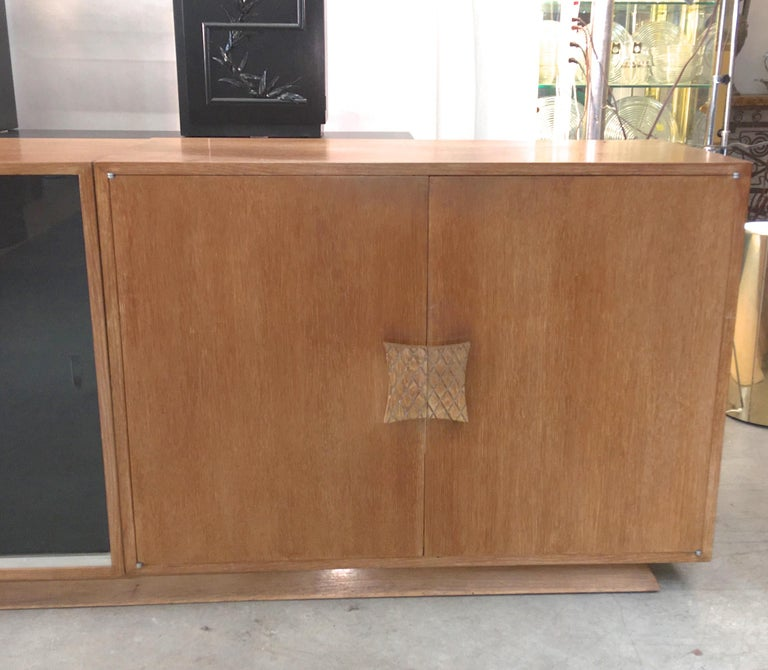 Ernst Schwadron Cerused Triple Cabinet For Sale 6