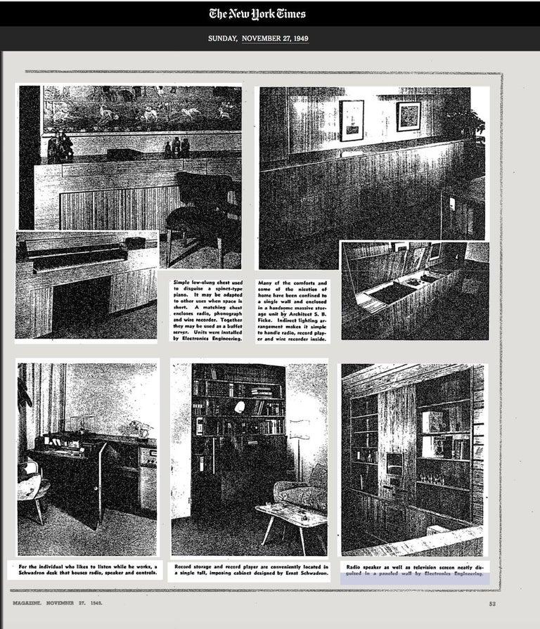 Ernst Schwadron Cerused Triple Cabinet For Sale 13