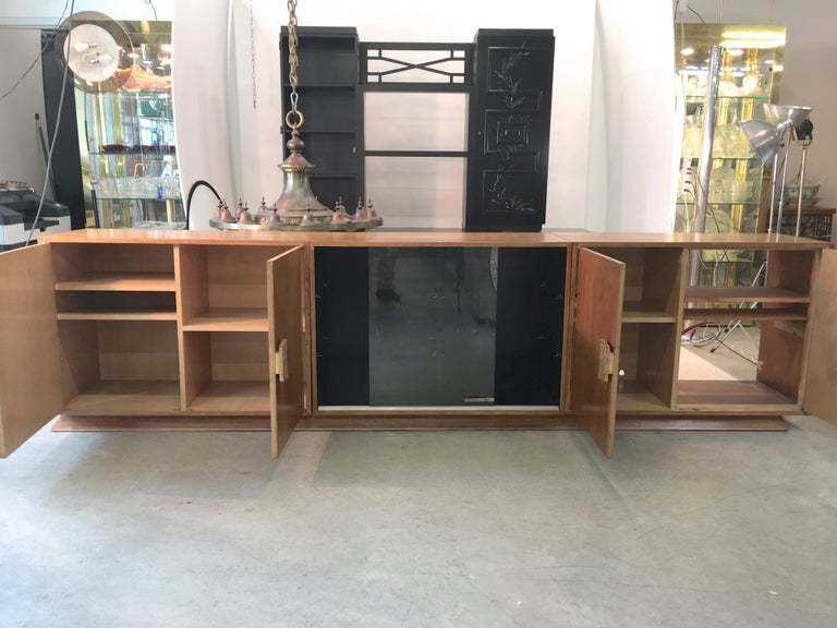 Ernst Schwadron Cerused Triple Cabinet In Fair Condition For Sale In Hingham, MA
