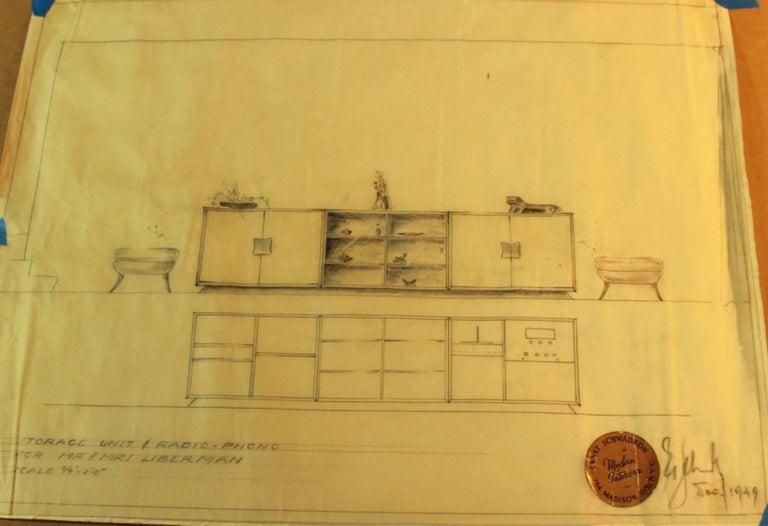 Mid-19th Century Ernst Schwadron Cerused Triple Cabinet For Sale