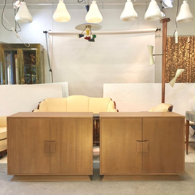 Ernst Schwadron Limed Oak Cabinet For Sale 3
