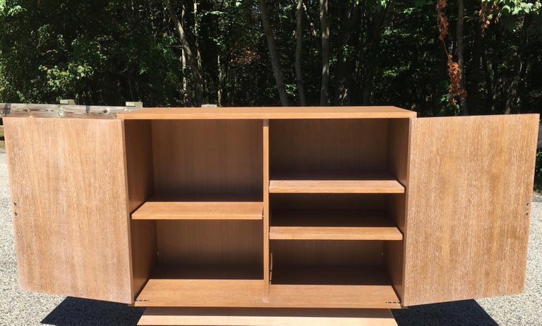 Ernst Schwadron Limed Oak Cabinet For Sale 4