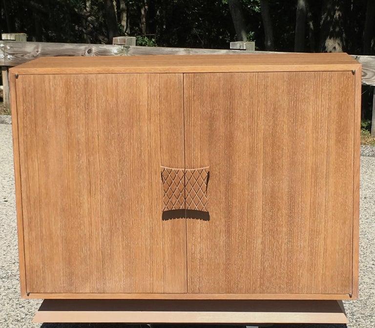 Ernst Schwadron Limed Oak Cabinet For Sale 5