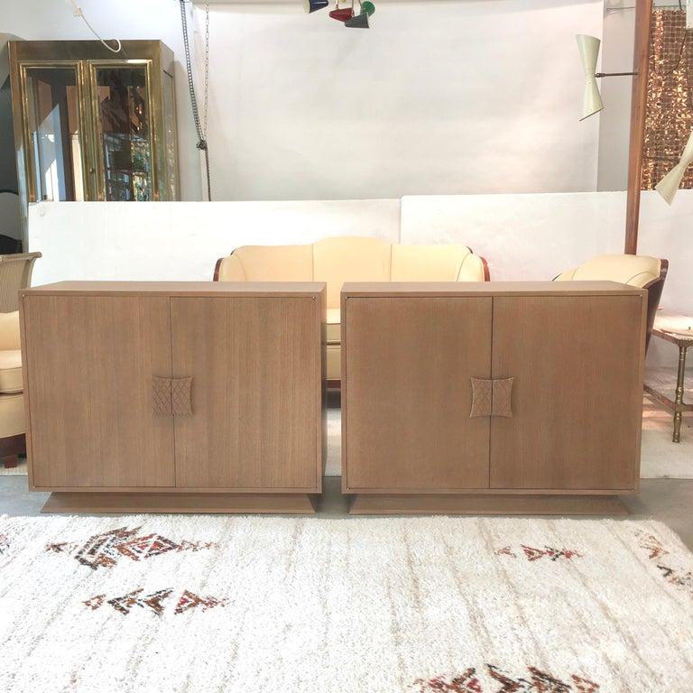 Ernst Schwadron Limed Oak Cabinet For Sale 6