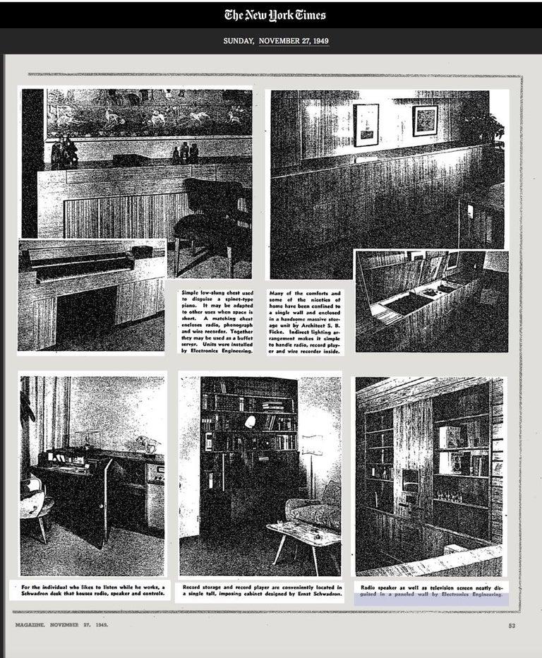 Ernst Schwadron Limed Oak Cabinet For Sale 11
