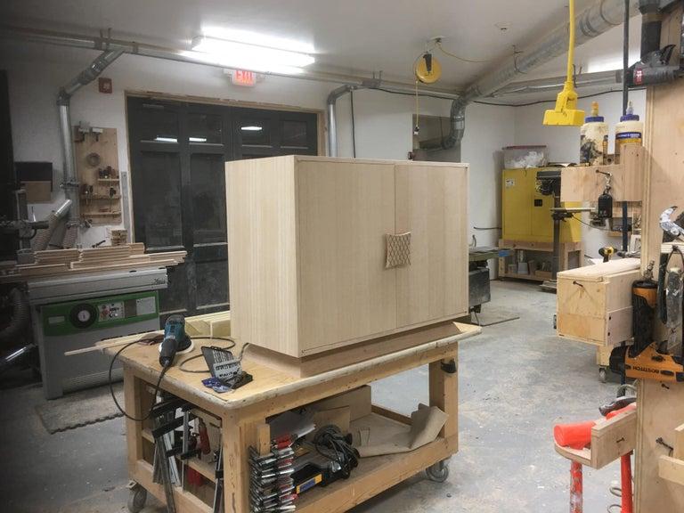 Ernst Schwadron Limed Oak Cabinet For Sale 12