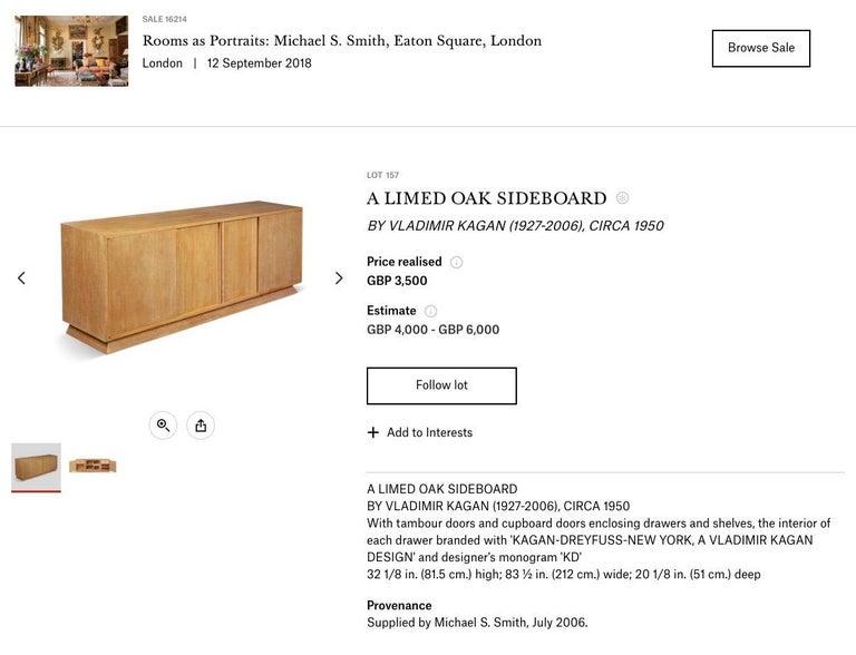 Ernst Schwadron Limed Oak Cabinet For Sale 13