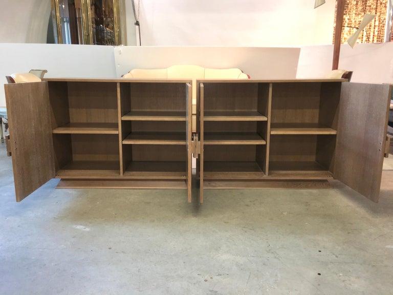 Cerused Ernst Schwadron Limed Oak Cabinet For Sale