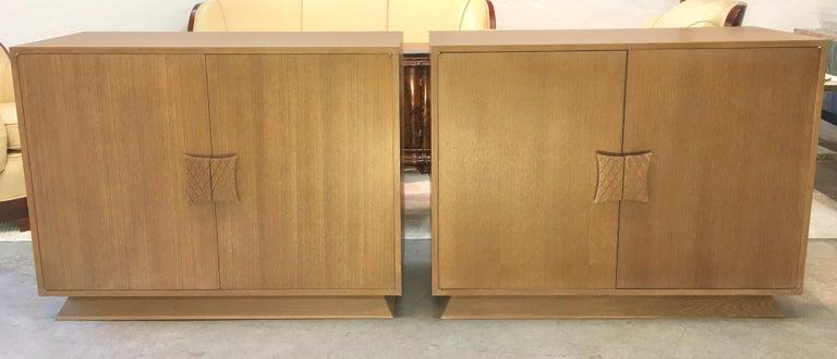 Ernst Schwadron Limed Oak Cabinet For Sale 2
