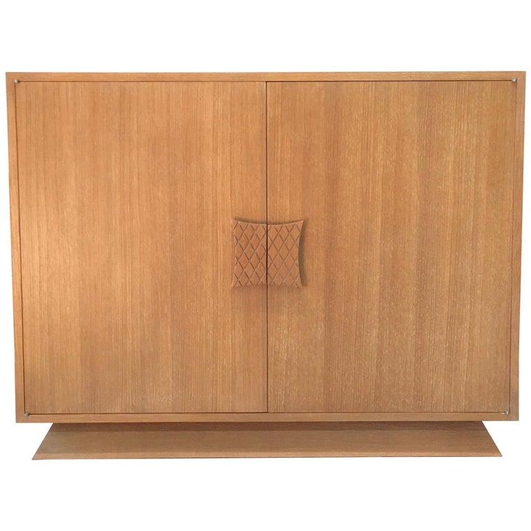 Ernst Schwadron Limed Oak Cabinet For Sale