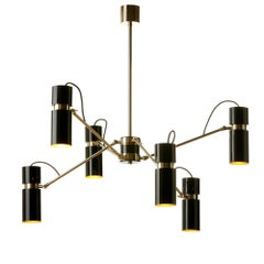 Eroll Suspension with Black Lacquered Shade