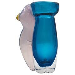 Eros Aquamarine Vase #1 by Toso Cristiano