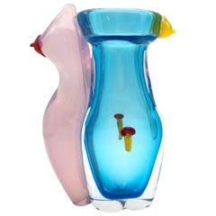 Eros Aquamarine Vase #2 by Toso Cristiano