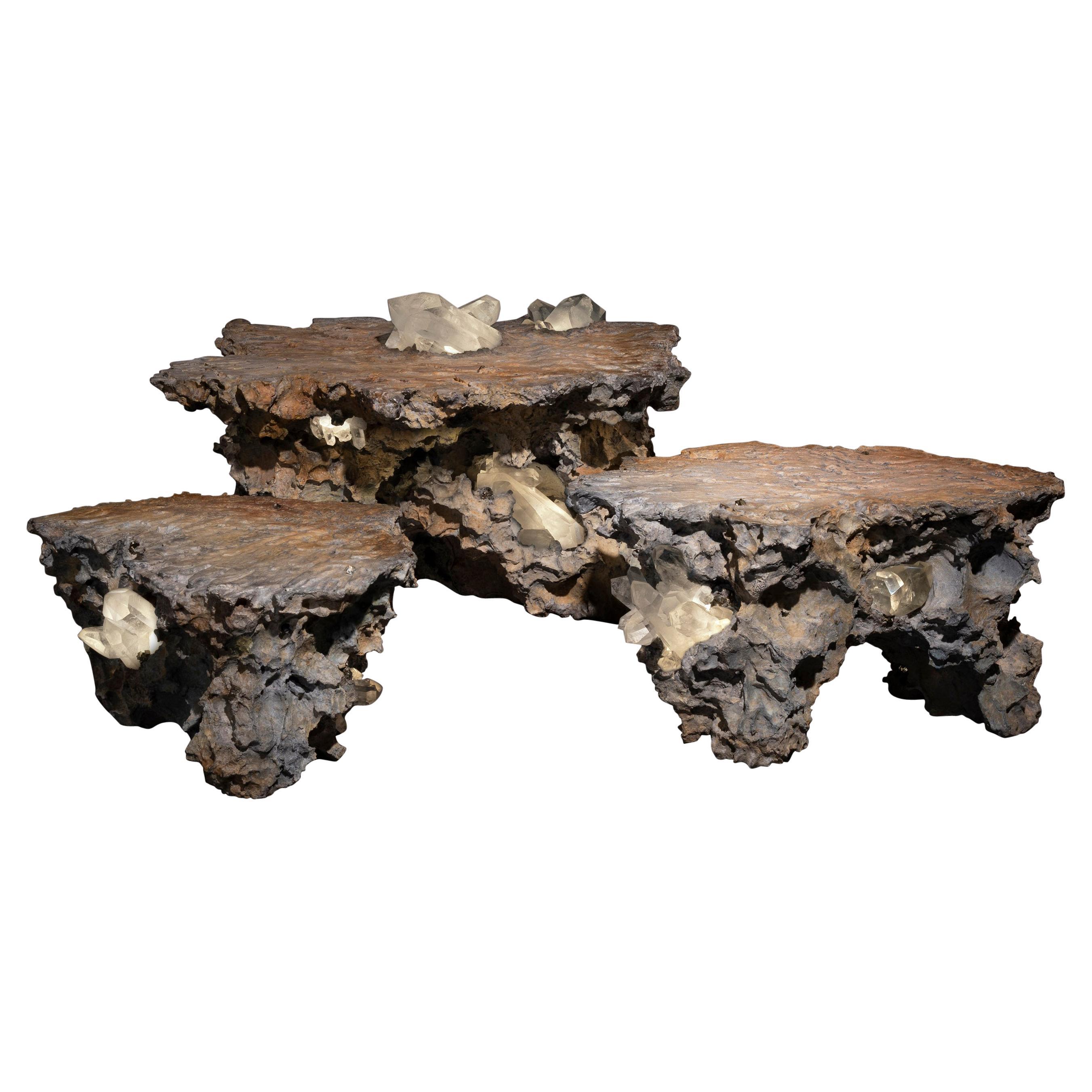 """Erosion"" Set of Three Nesting Tables"