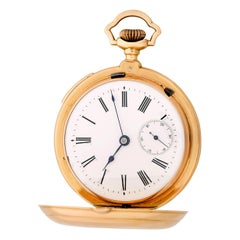 Erotic 18 Karat Rose Gold Pocket Watch