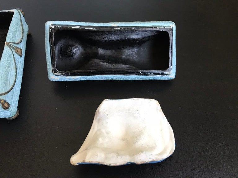 Erotic Early 20th Century Mexican Ceramic Trinket Box  For Sale 15