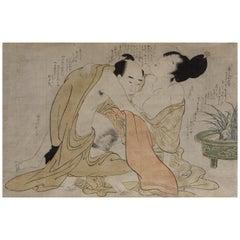 Erotic Woodblocks Print 'Shunga', Kitagawa Utamaro