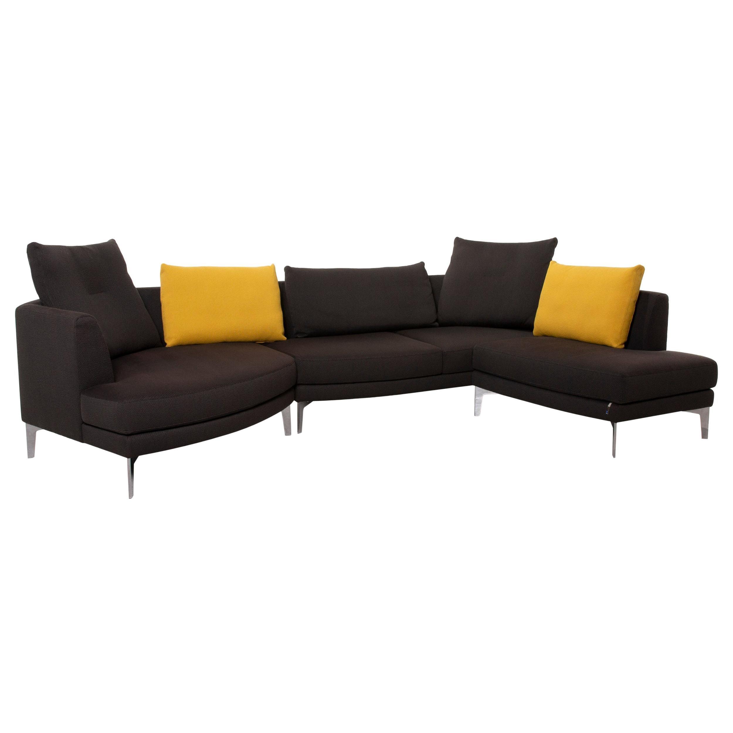 Erpo AV 300 Fabric Sofa Gray Corner Sofa Yellow