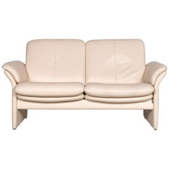 Erpo Chalet Designer Leather Sofa in Crème Two-Seat Couch