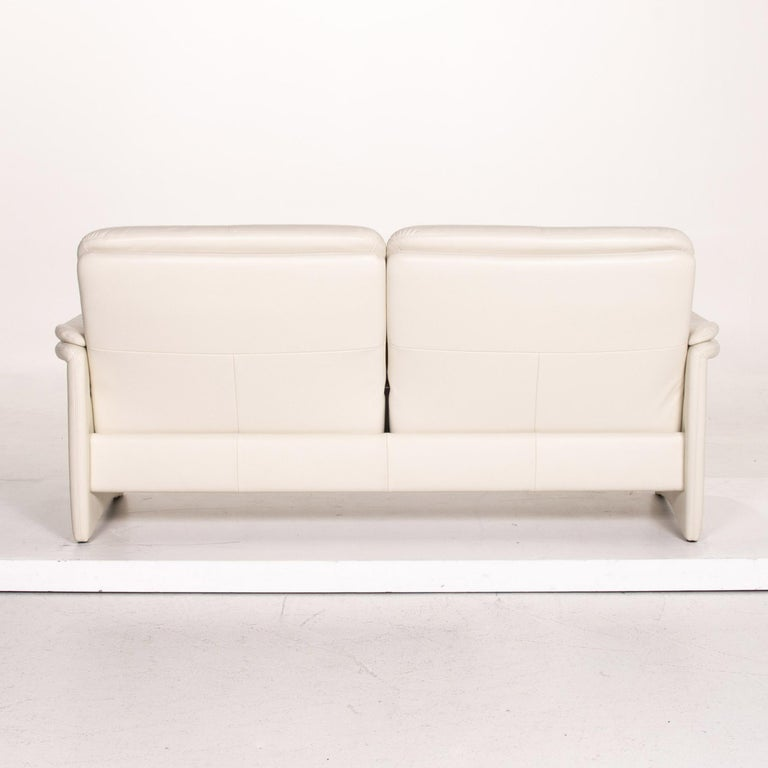 Erpo City Leather Sofa Cream Two-Seat Couch For Sale 4