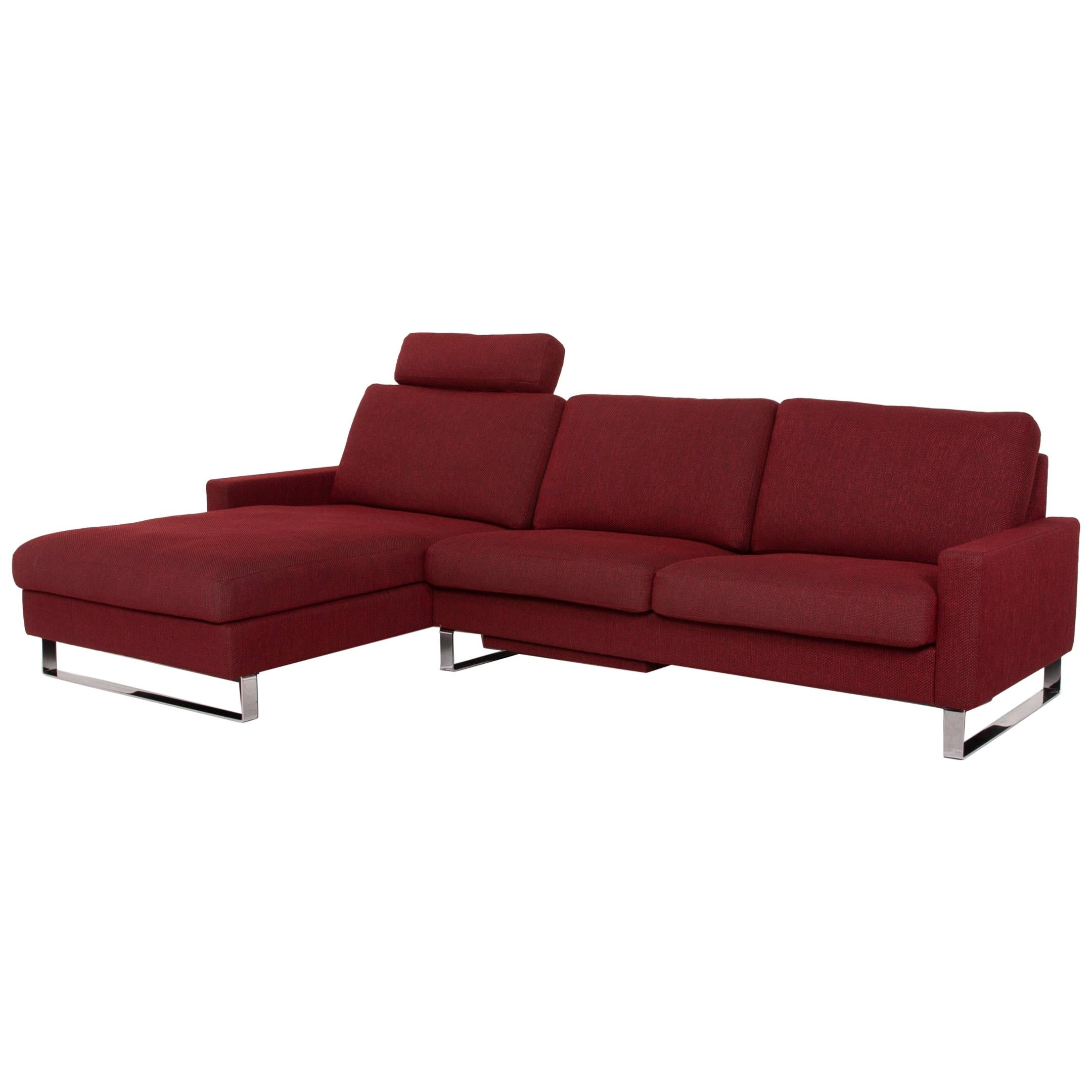 Erpo CL 500 Fabric Sofa Red Corner Sofa