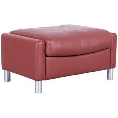 Erpo Designer Footstool Leather Brown Sofa Couch